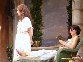 as Lady Caroline in ENCHANTED APRIL at The Asolo; with Carolyn Swift