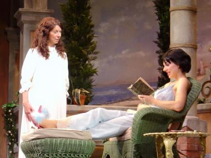 as Lady Caroline in the Asolo Theatre Company's ENCHANTED APRIL, with Carolyn Michel